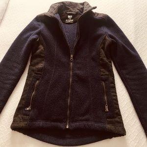EUC Kuhl fleecy jacket purple and grey